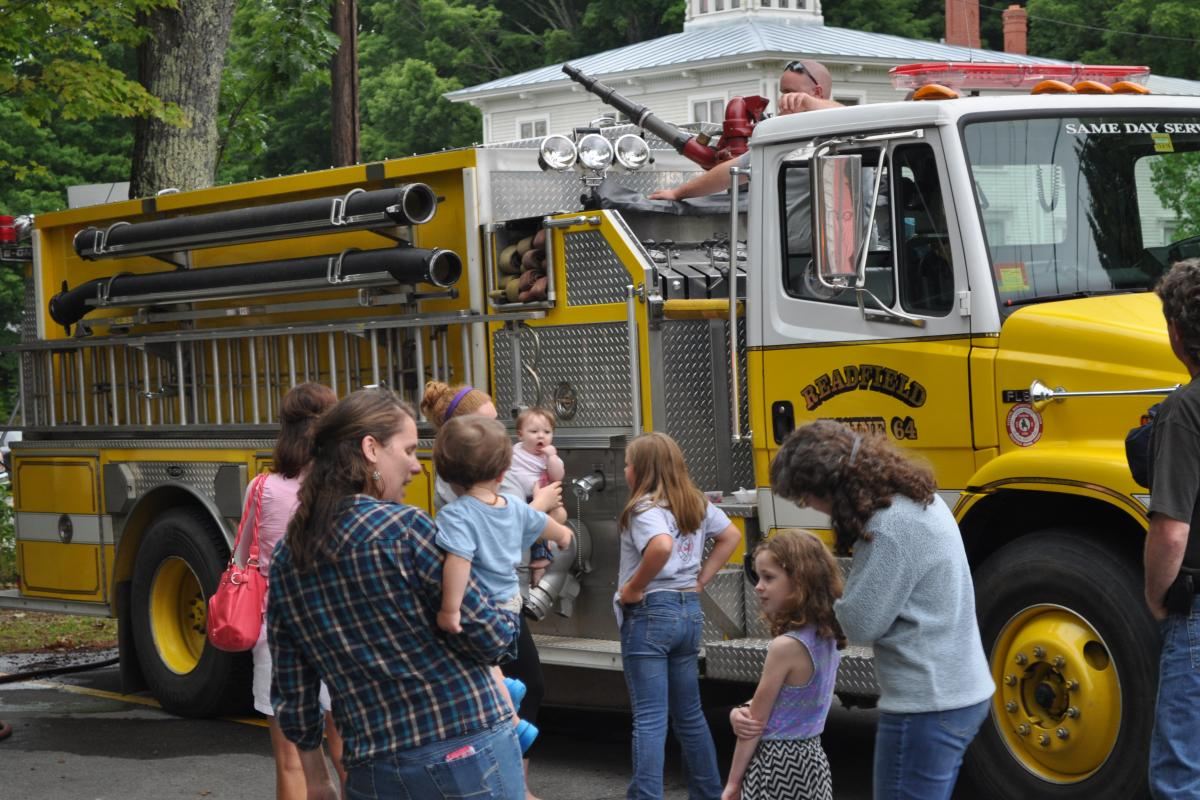 Checking out the Fire Truck - Fire Associations 2016 Bean Hole Supper 8/13/2016