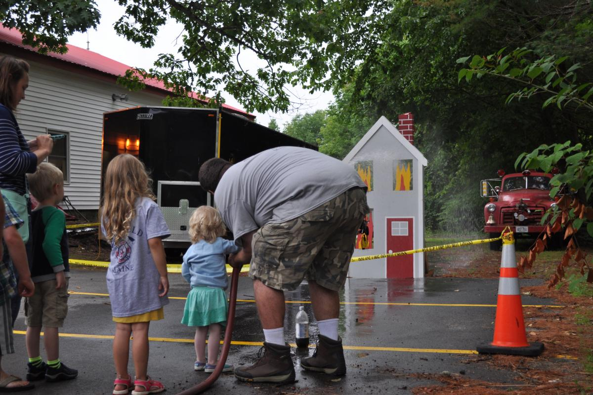 Little girls can be firefighters too - Fire Associations 2016 Bean Hole Supper 8/13/2016