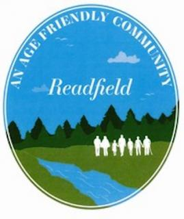 logo of river with trees