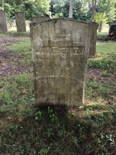 Samuel Greely (Died Dec. 16, 1824)- East Readfield: Before being cleaned with D-2