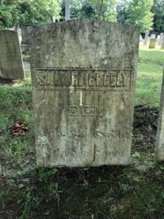 Samuel Greely (Died July 2, 1856)- East Readfield: Before being cleaned with D-2