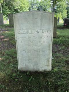 Samuel Greely (Died Dec. 16, 1824)- East Readfield: After being cleaned with D-2