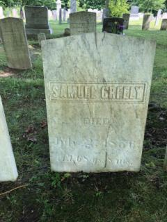 Samuel Greely (Died July 2, 1856)- East Readfield: After being cleaned with D-2